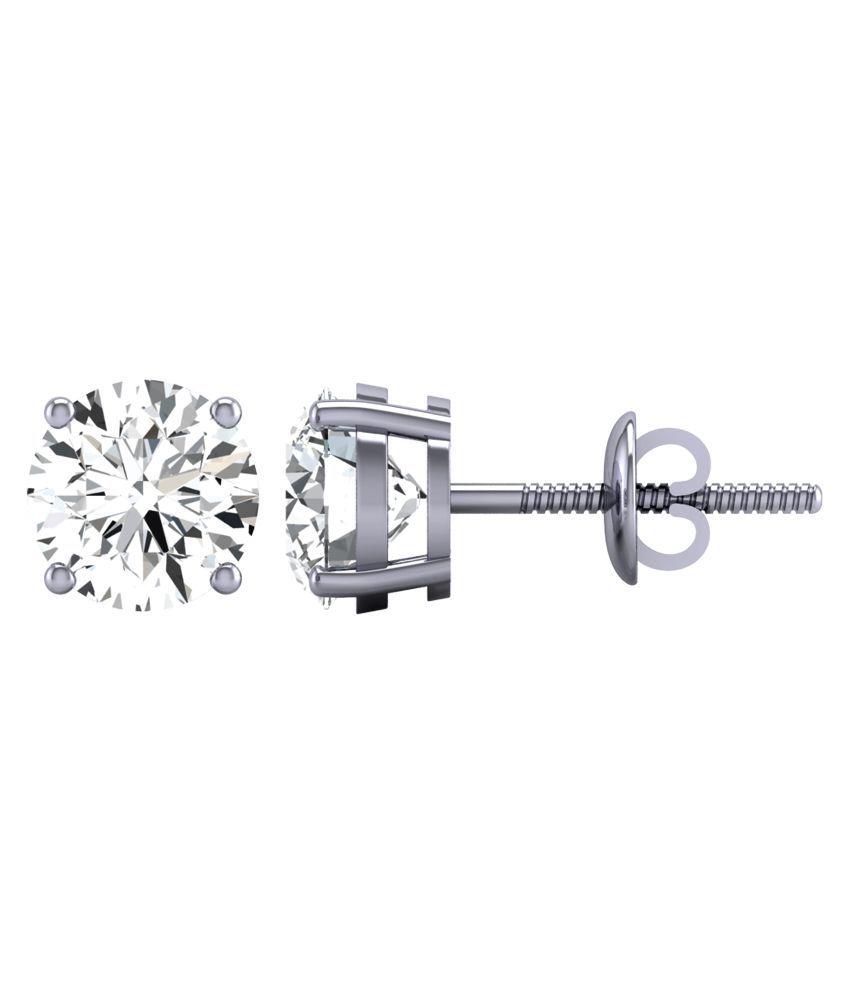 Diamond Farm 18kt BIS Hallmarked White Gold Diamond Studs