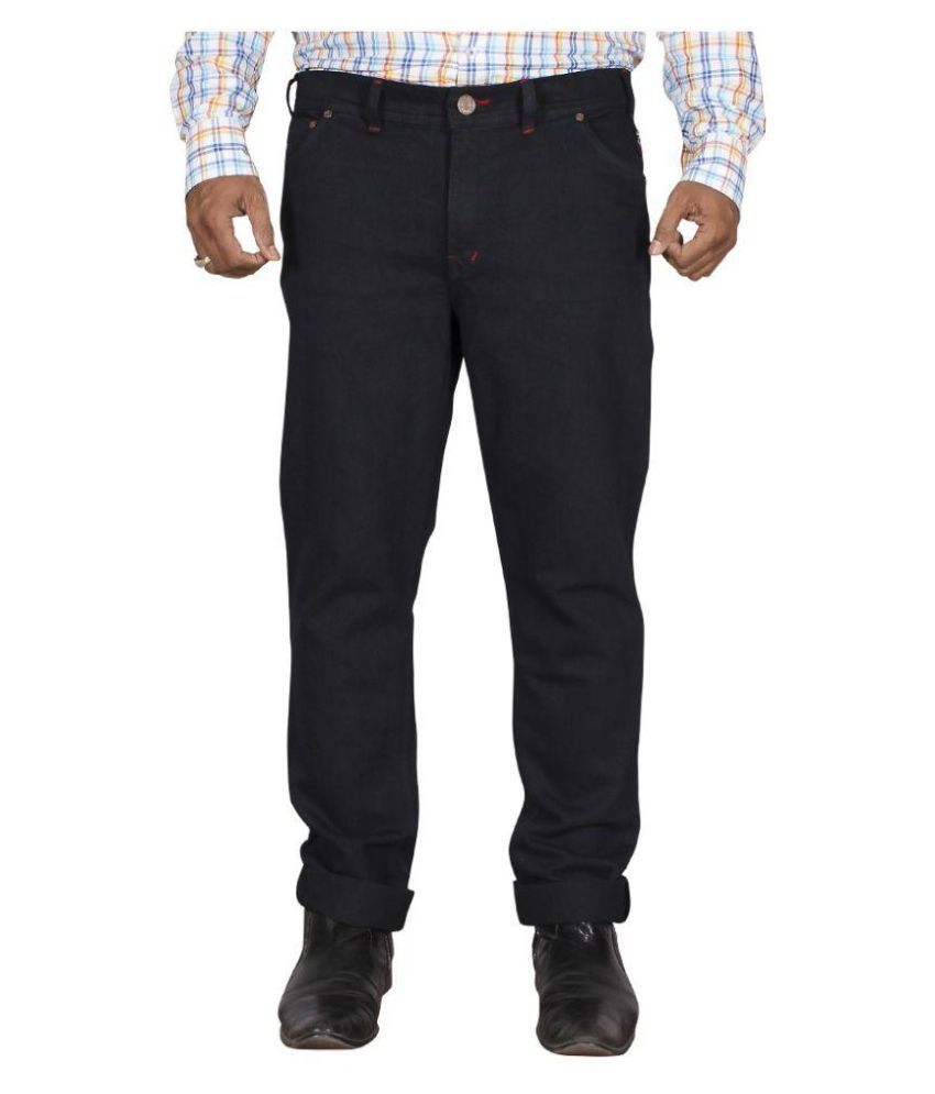 White Pelican Black Regular Fit Solid Jeans