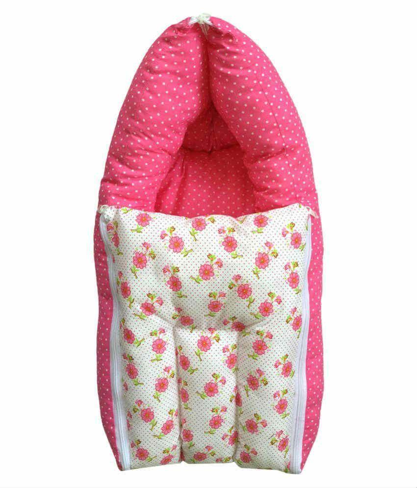 Younique Pink Cotton Sleeping Bags ( 60 cm × 55 cm)