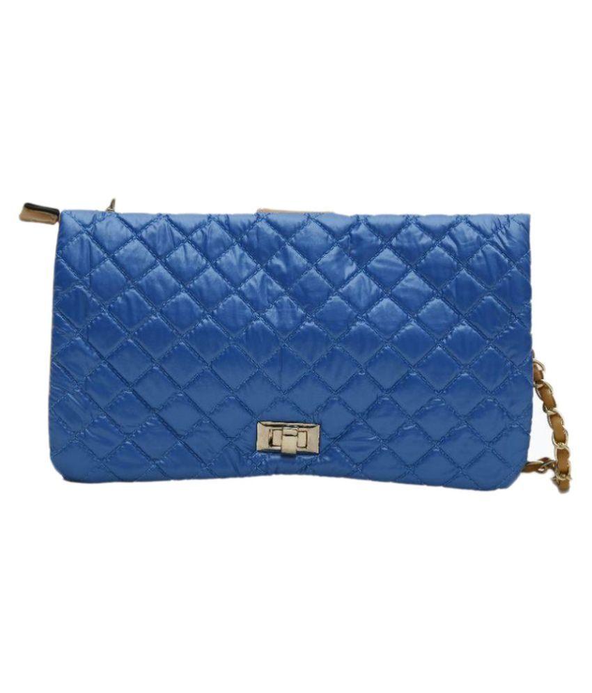 Famoso Blue Fabric Sling Bag
