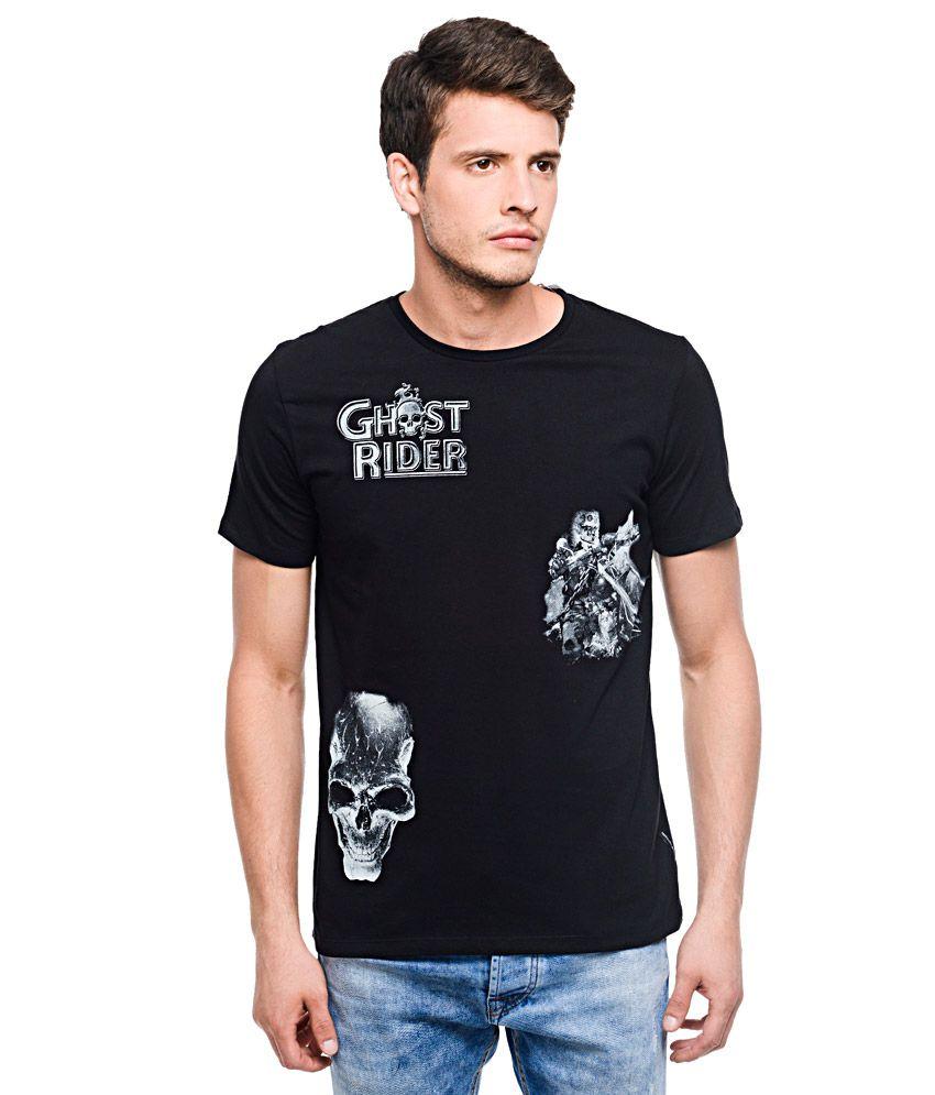 Marvel Comics Black Round Neck T Shirt