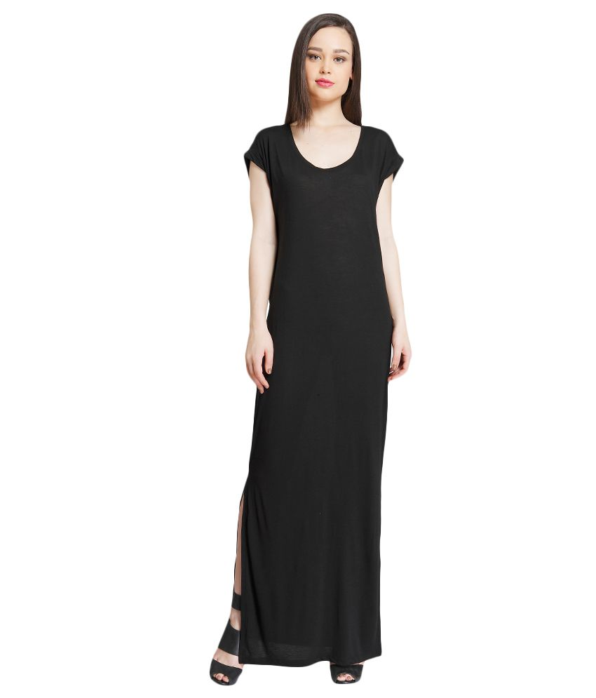 d9d12b1dd01e ONLY Black Solid Maxi Dress - Buy ONLY Black Solid Maxi Dress Online at  Best Prices in India on Snapdeal