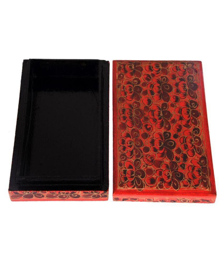 Ria Paper Studded Red Coloured Jewellery Box