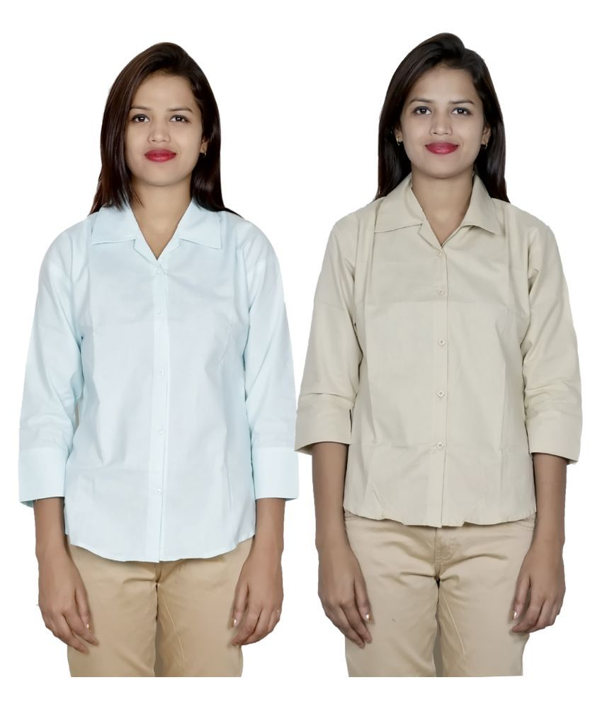 Indiweaves Multi Color Cotton Shirts