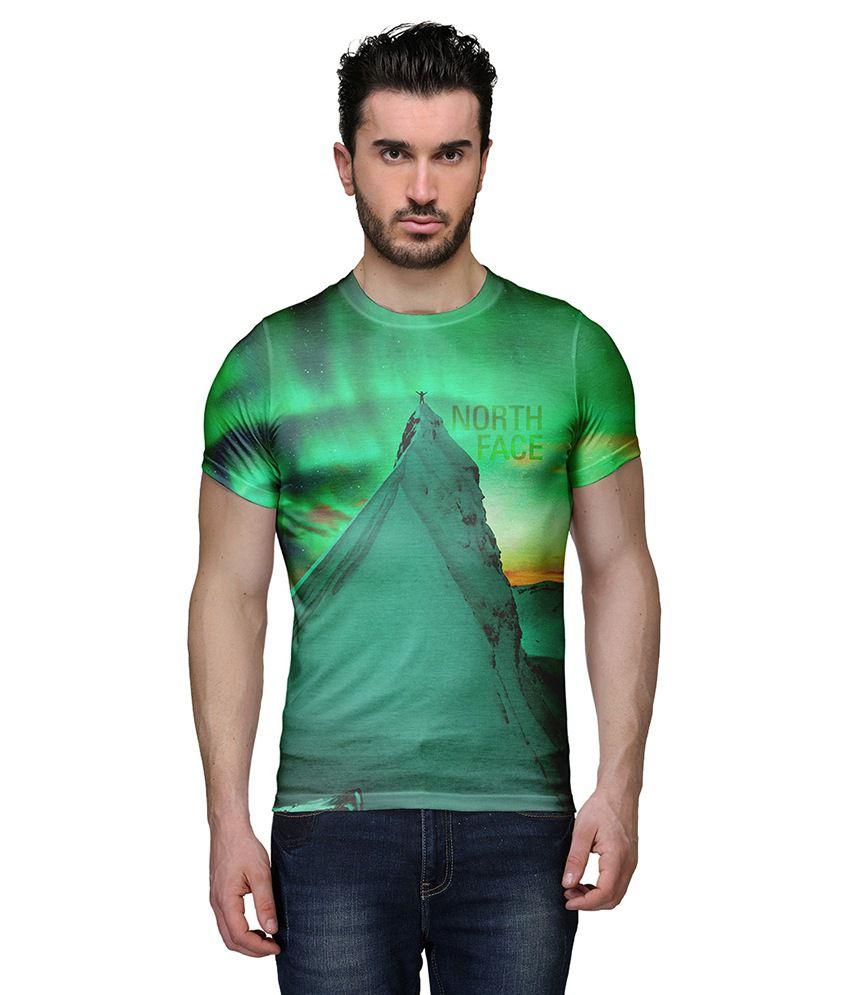 Wear Your Mind Green Round T Shirt