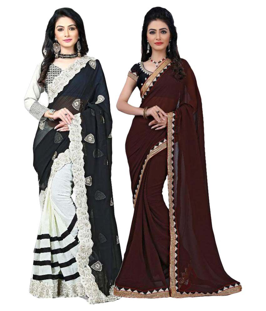Sparkle Tradition Multicoloured Cotton Saree Combos