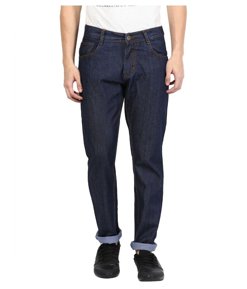 Zea-al Blue Slim Fit Solid Jeans Pack of 3