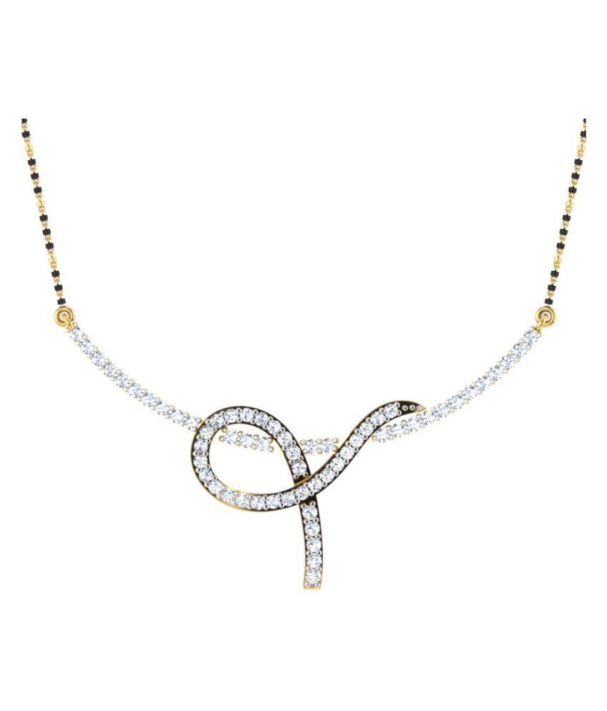 Carat Forever 14Kt Yellow & White Gold Diamond Mangalsutra