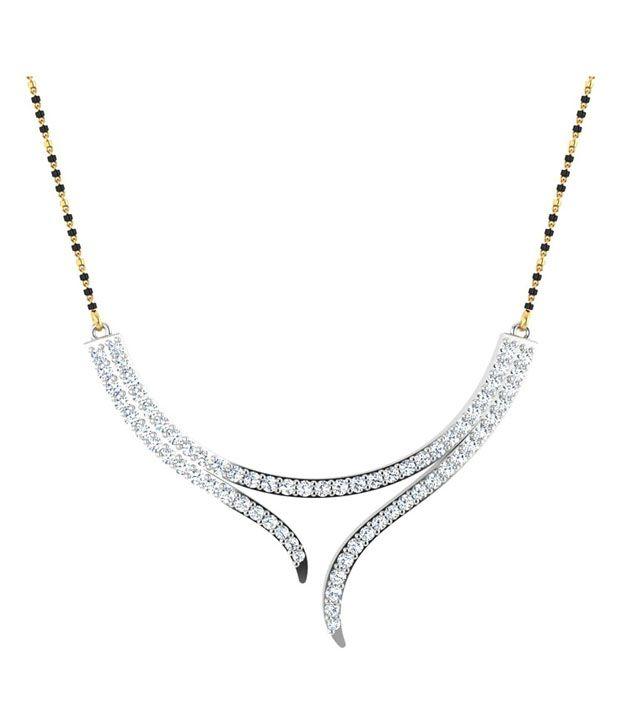 Carat Forever 14Kt White Gold Diamond Mangalsutra