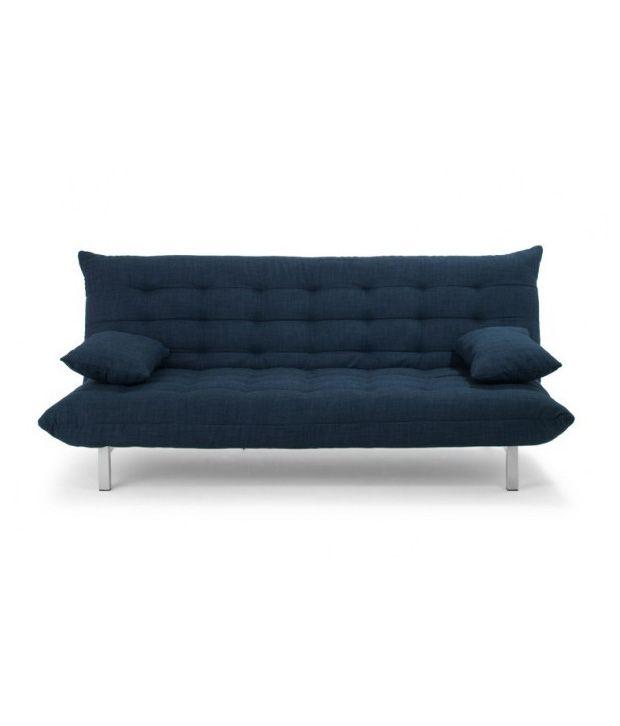FabHomeDecor Designer Fabric L Shape Sofa Cum Bed