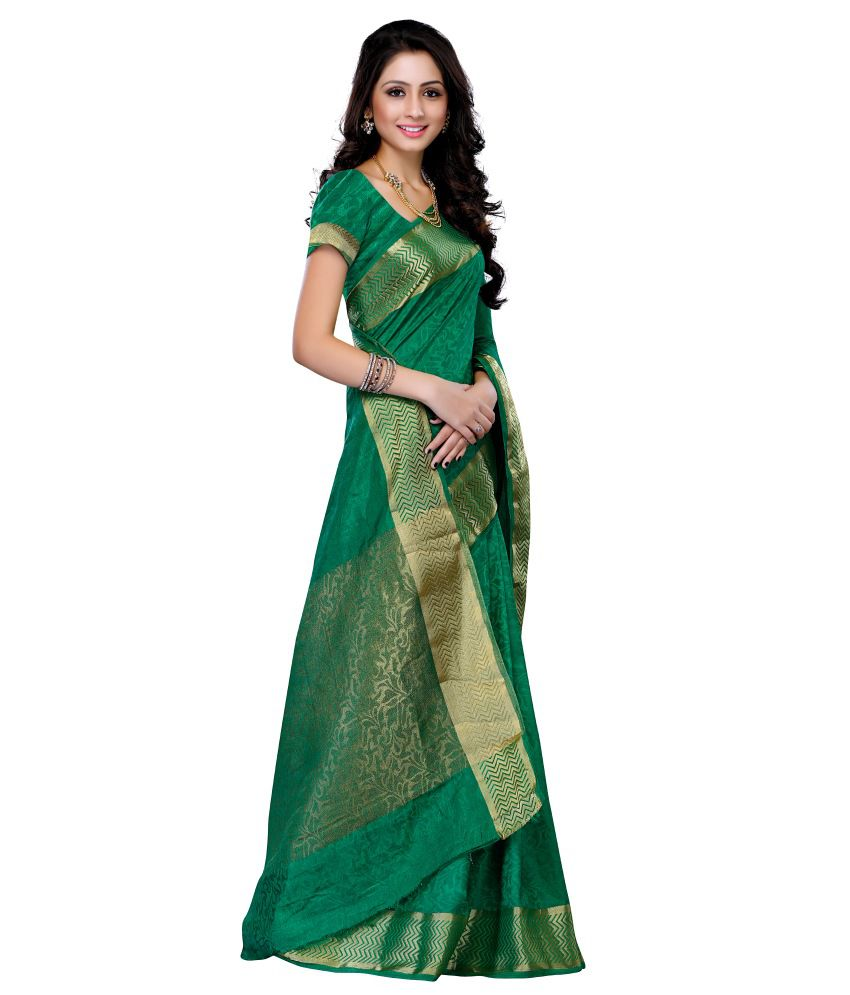 653ee84354 Mimosa Green Tussar Silk Saree - Buy Mimosa Green Tussar Silk Saree ...