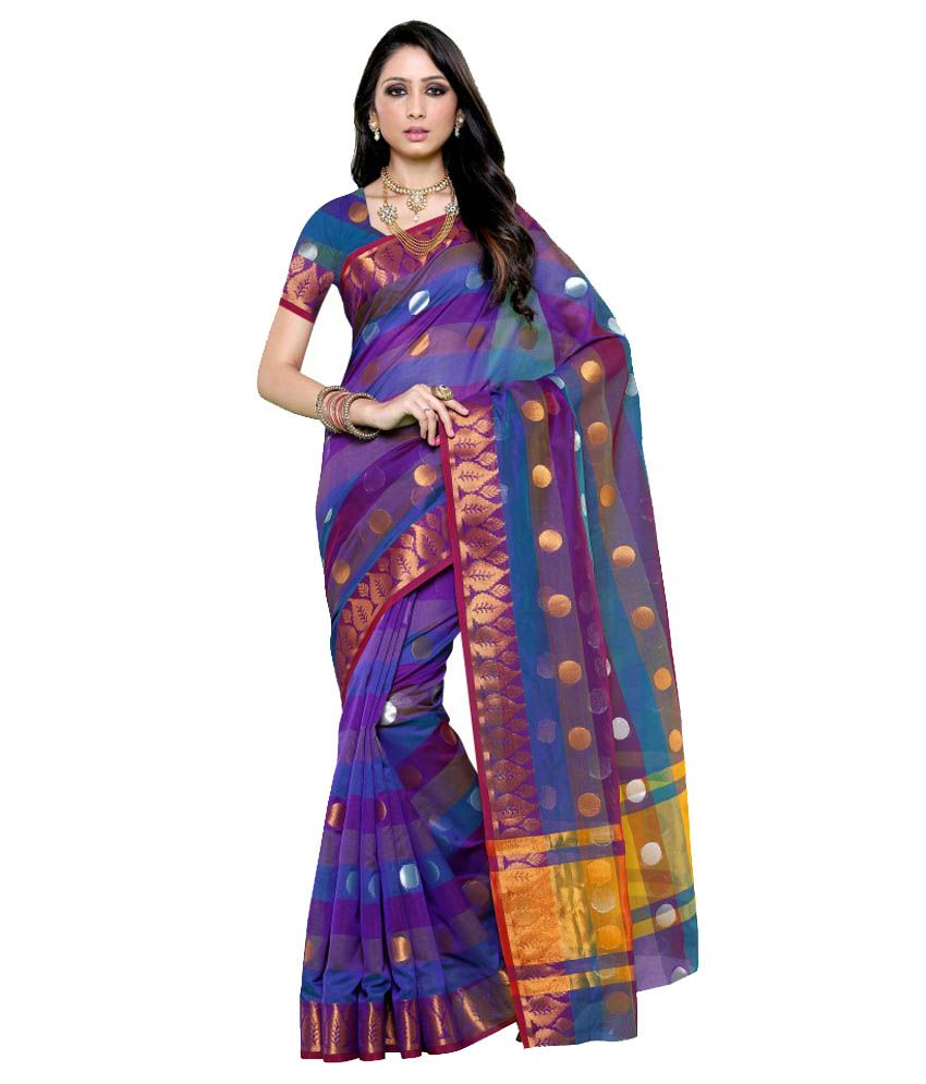 Mimosa Purple Kanchipuram Saree