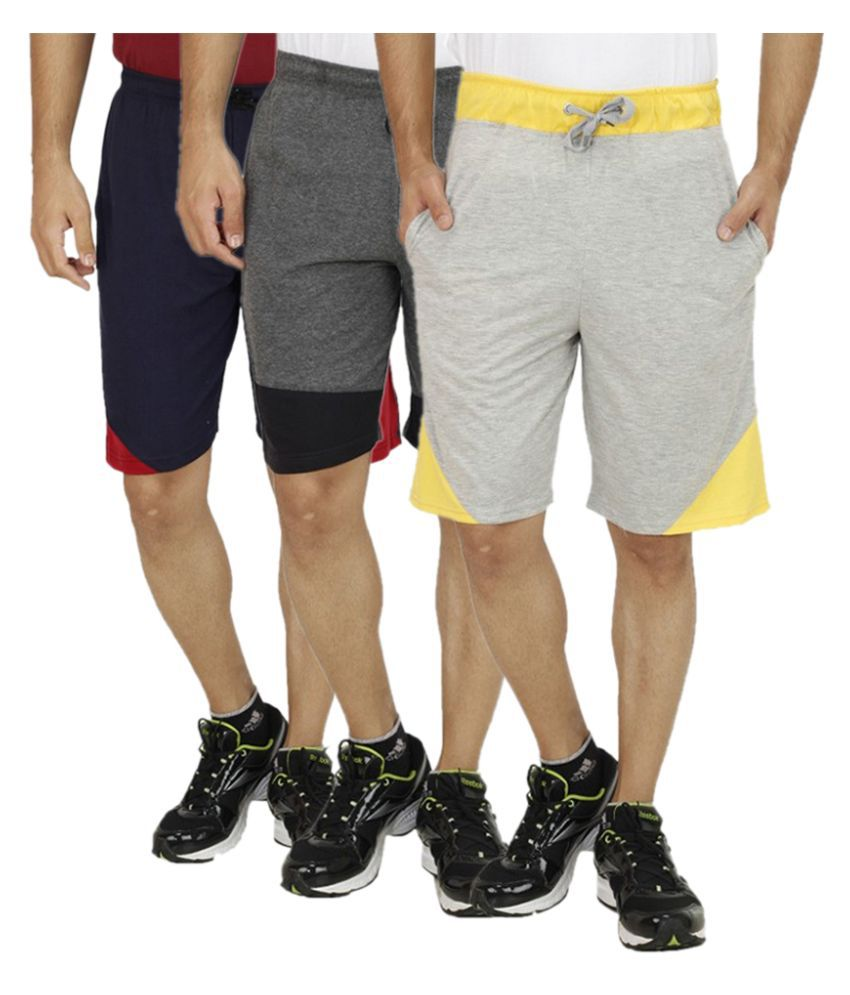RK Traders Multi Shorts Pack of 3