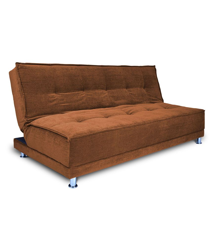 stardust 3 seater solid wood sofa cum bed brown buy stardust 3 rh snapdeal com