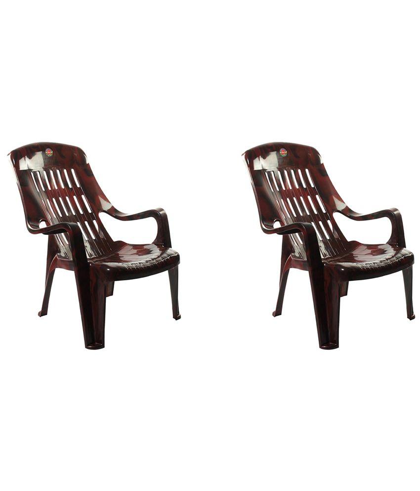 cello comfort sit back plastic chair set of 2 - Plastic Chair