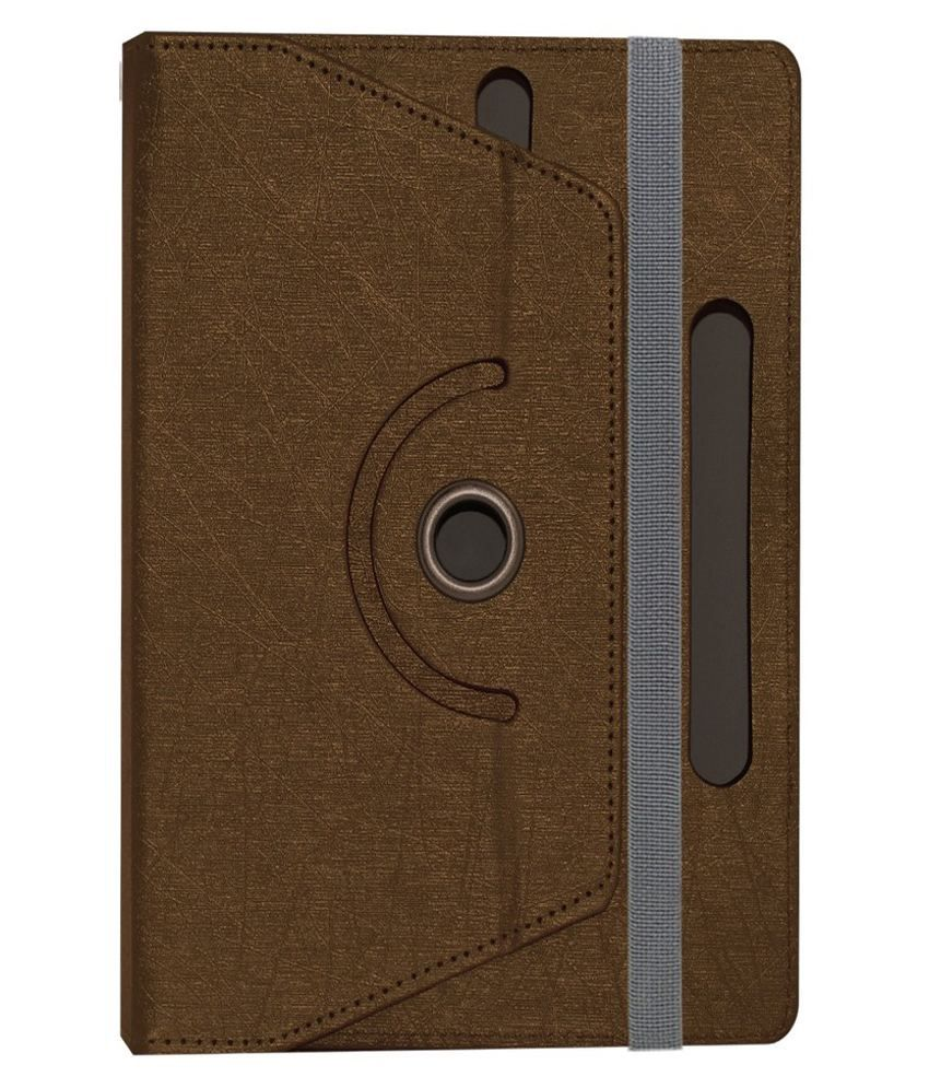 ACM Rotating Flip Cover for Smart Tab SQ718 - Brown
