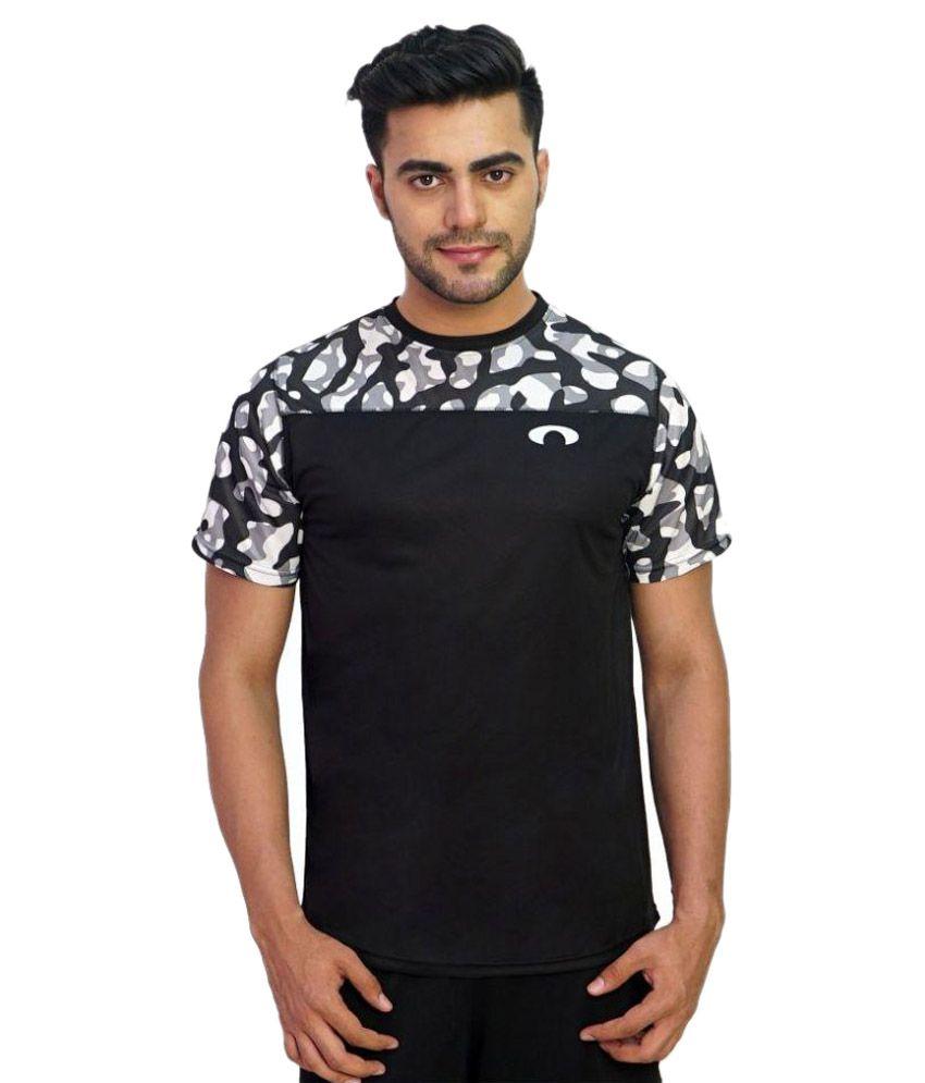 Arcley Black Round T Shirt