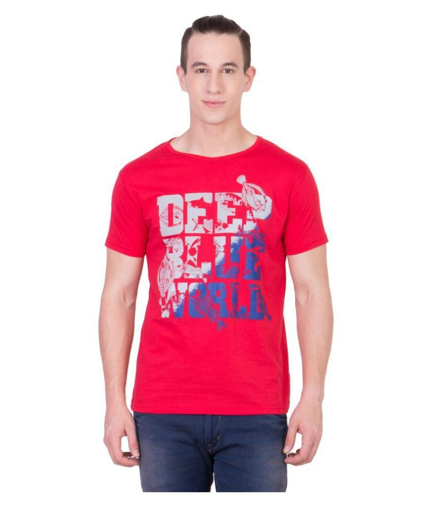 Cliths Red Round T Shirt