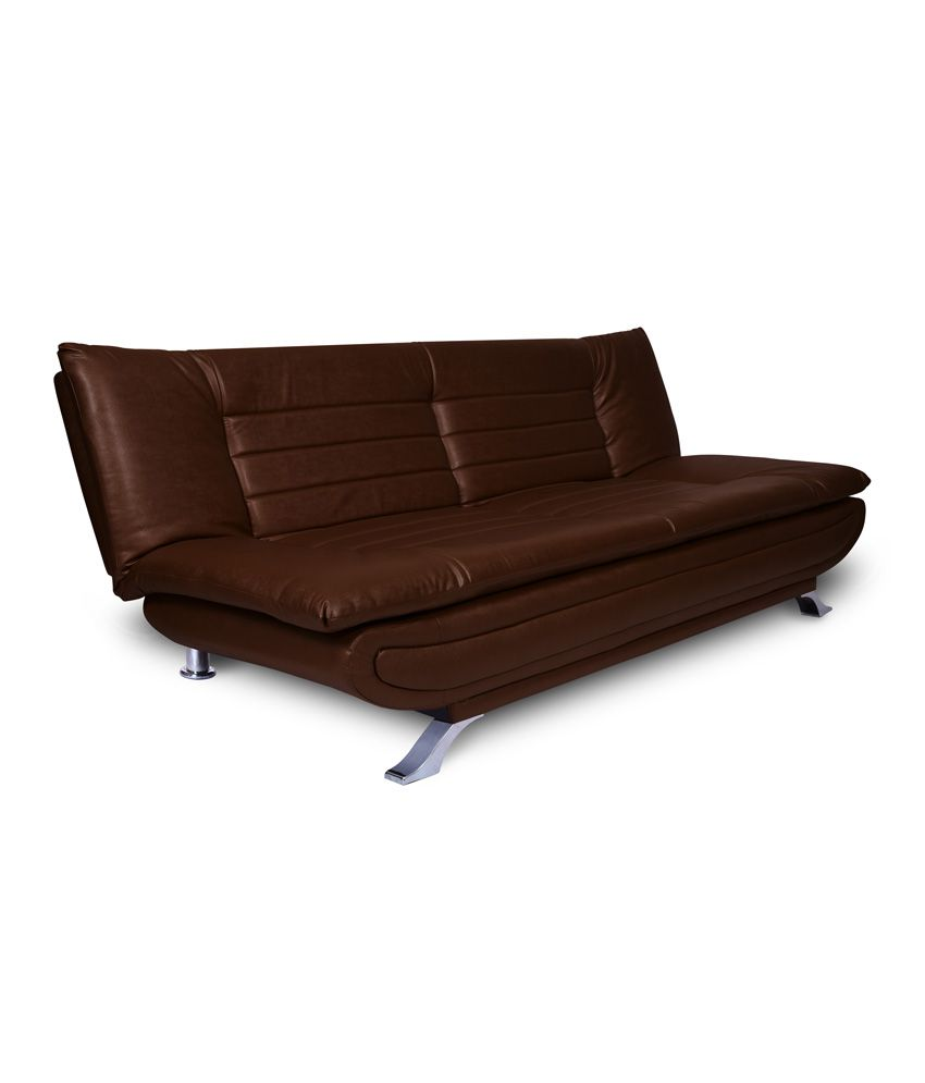 Elite Leatherette 3 Seater Sofa Cum Bed