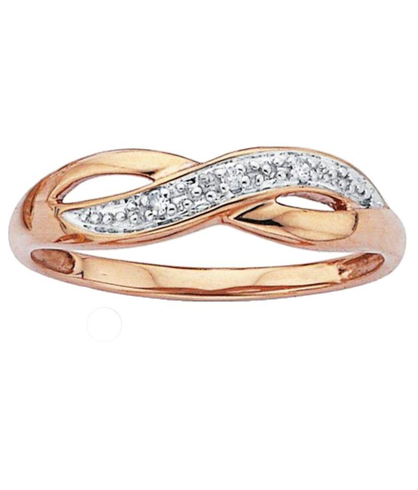 KDJ 18Kt BIS Hallmarked Rose Gold Diamond Ring