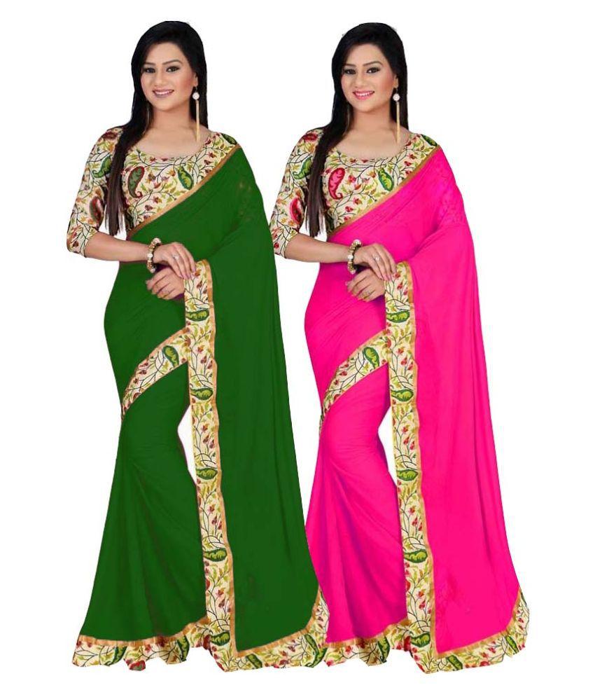 Bhuwal NX Multicoloured Bhagalpuri Silk Saree Combos