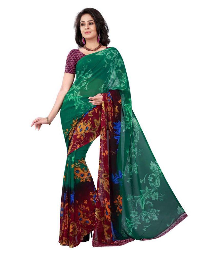 Nikki Textiles Multi Color Georgette Saree