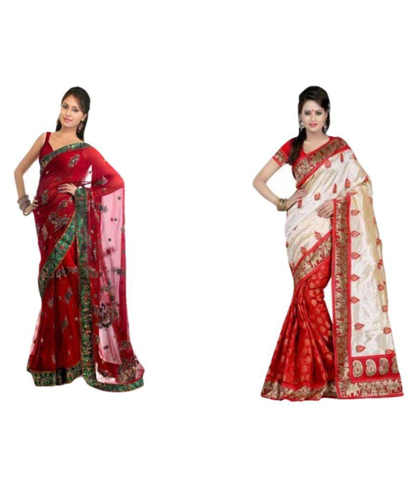 Roshni Fashions Multicoloured Chanderi Saree Combos