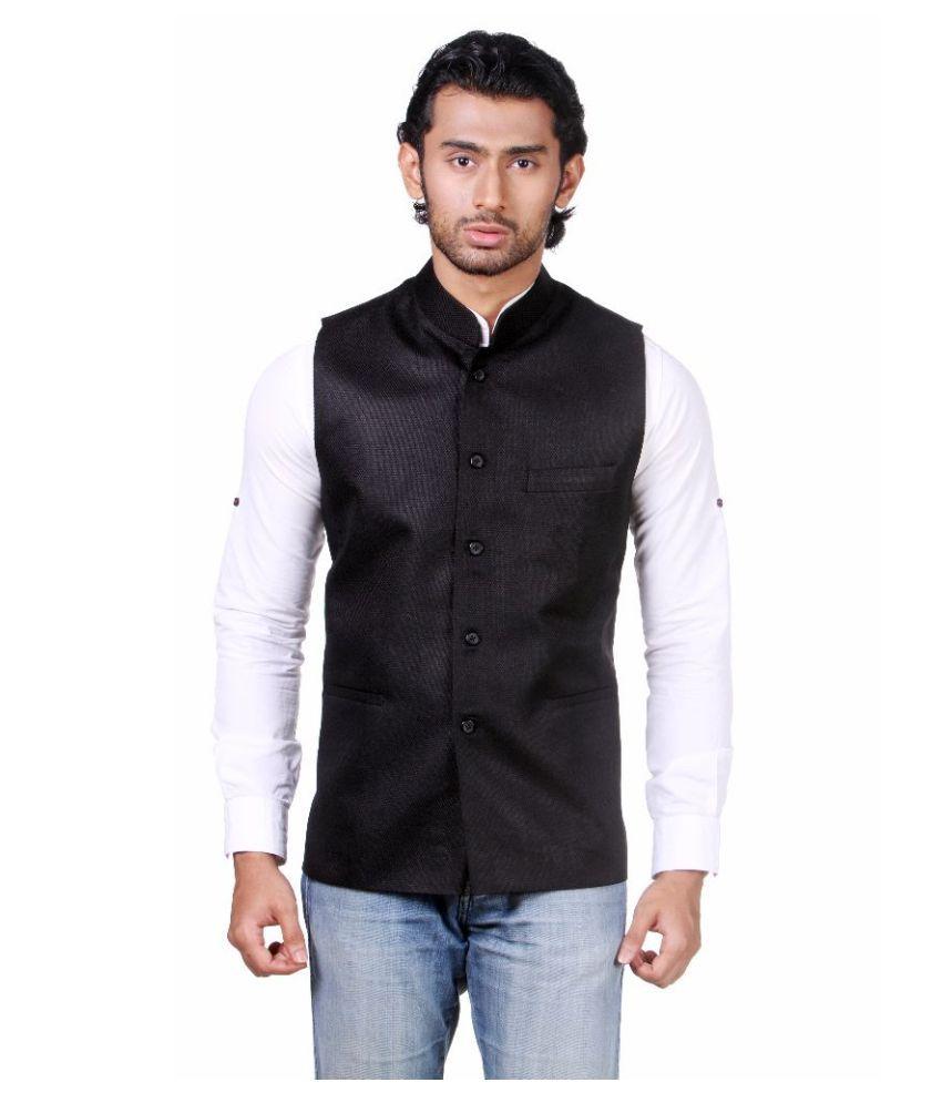 Amora Black Festive Waistcoats