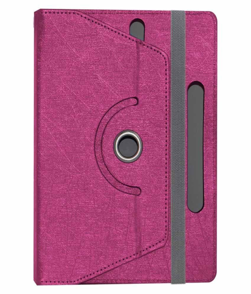 ACM Rotating Flip Cover for Nxi Fabfone Next Tab - Pink