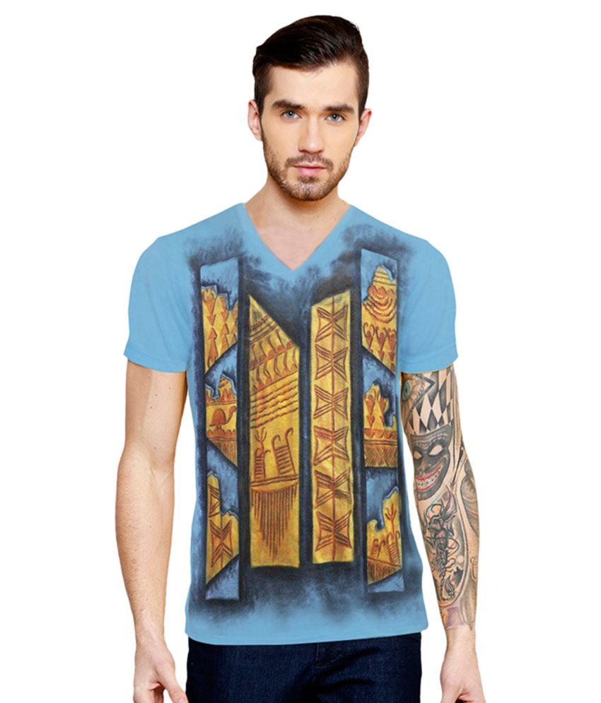 Rang Rage Blue V-Neck T Shirt