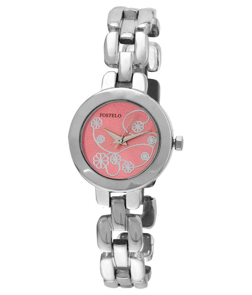 Fostelo Silver Analog Watch