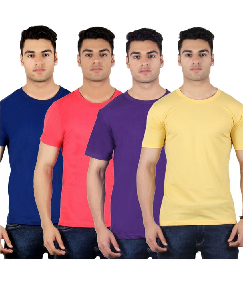 Diaz Multi Round T Shirt Pack of 4