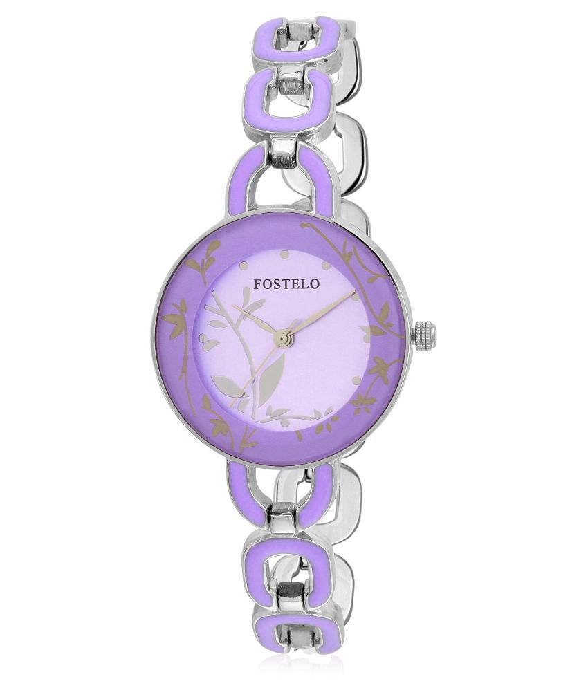 Fostelo Purple Analog Watch