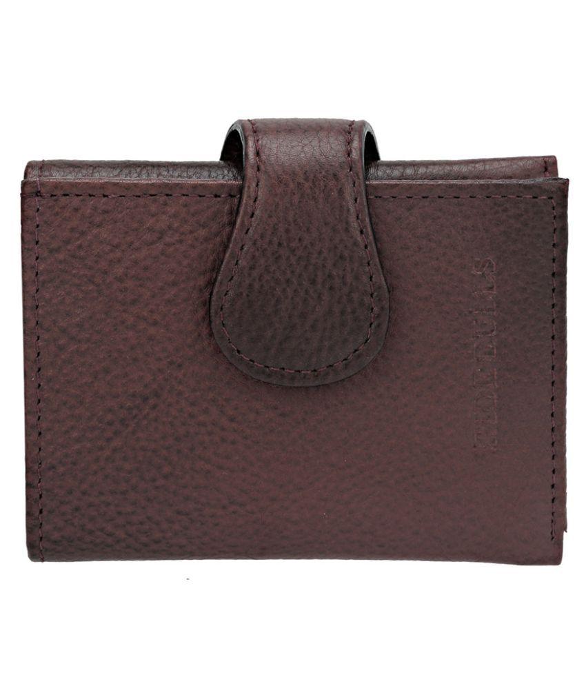 Hide Bulls Maroon Solid Bi Fold Wallet