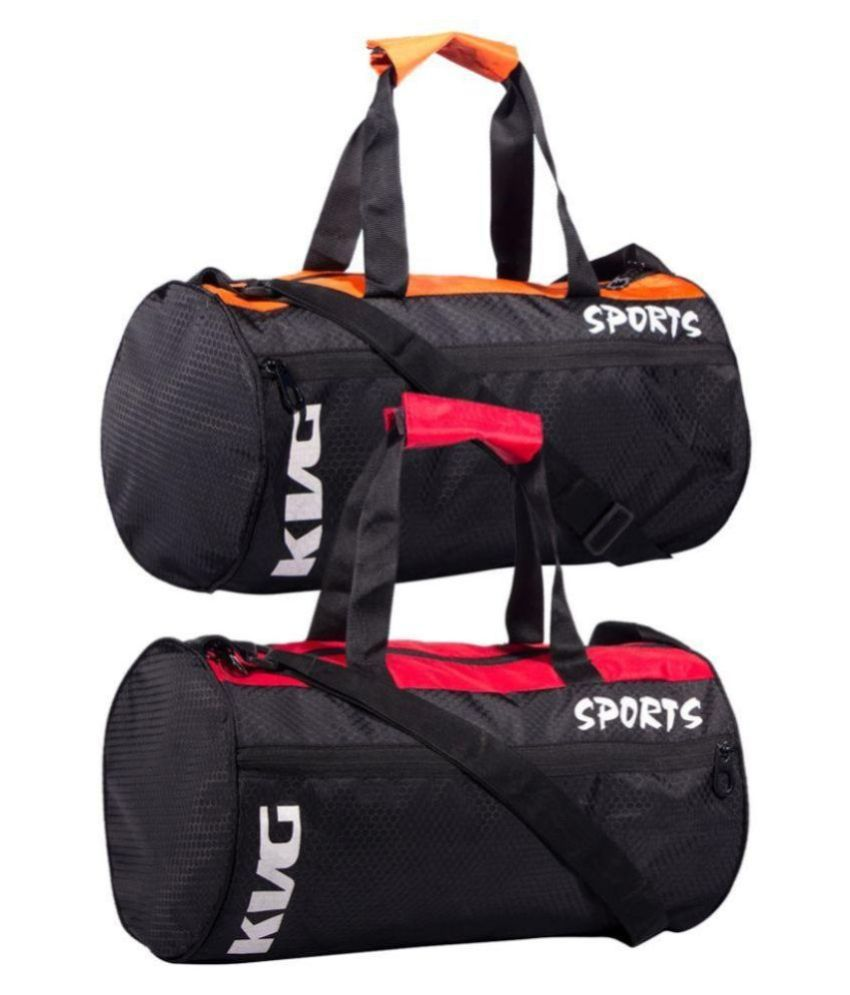 fca515c96ece KVG Combo Gym Bags Black 7 Gym Bag - Pack of 2 - Buy KVG Combo Gym Bags  Black 7 Gym Bag - Pack of 2 Online at Low Price - Snapdeal