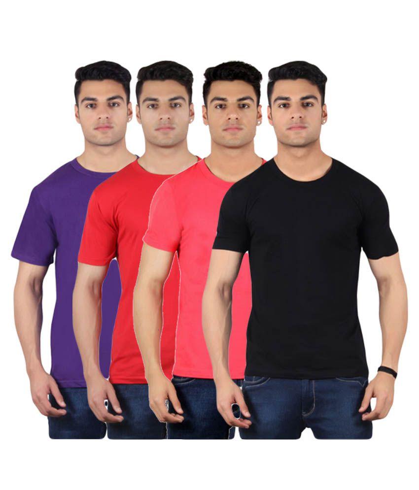 Diaz Multi Round T Shirt Pack of 4
