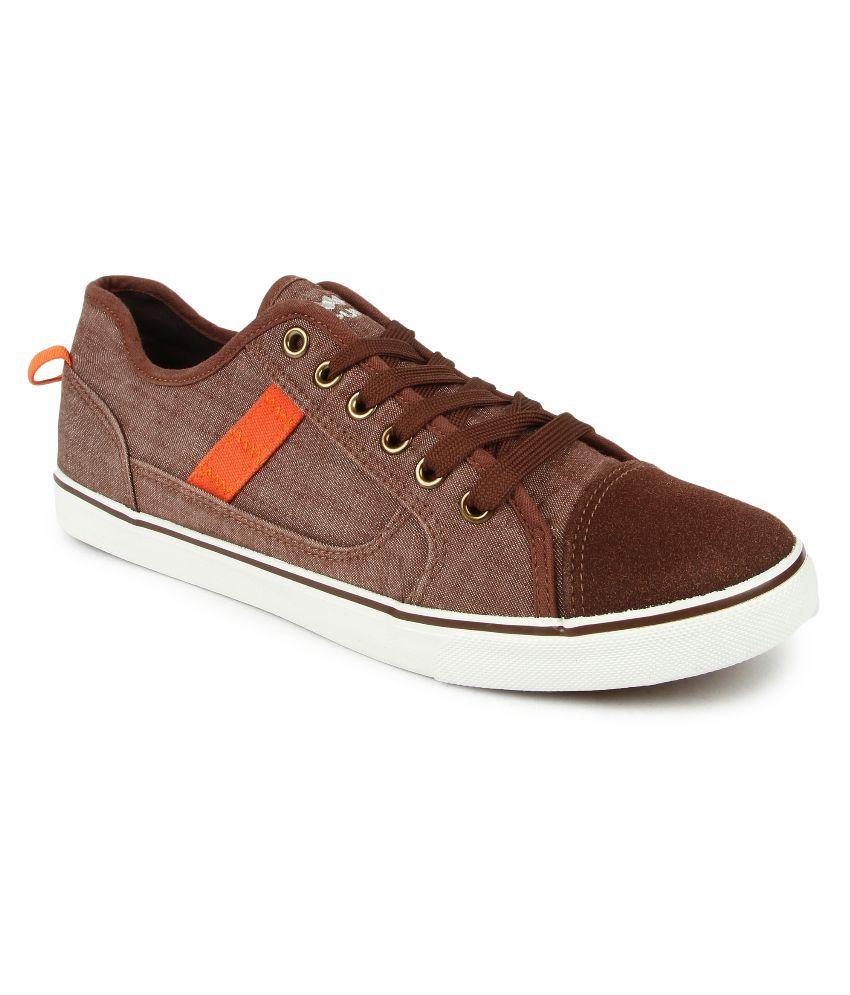 Spunk Brown Canvas Shoes - Buy Spunk
