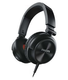 Philips SHL3210 Over Ear Wired Without Mic Headphone- Black