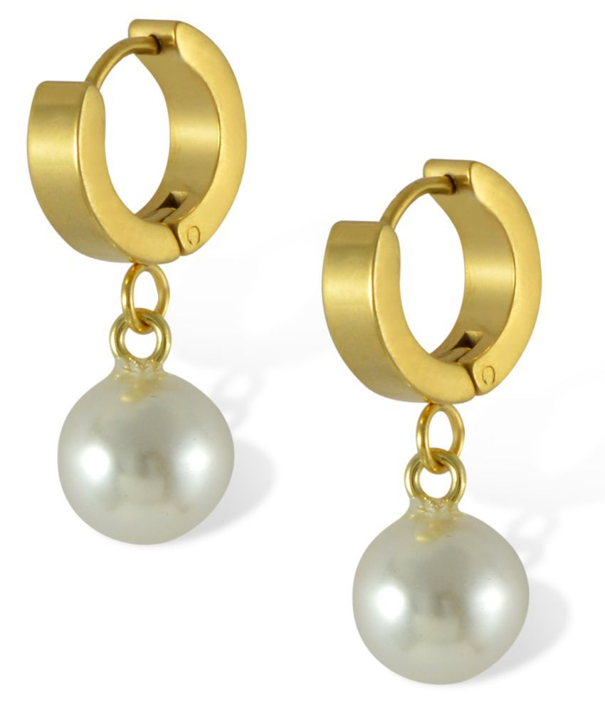 Sarah Alloy Pearls Studded Gold Coloured Earrings