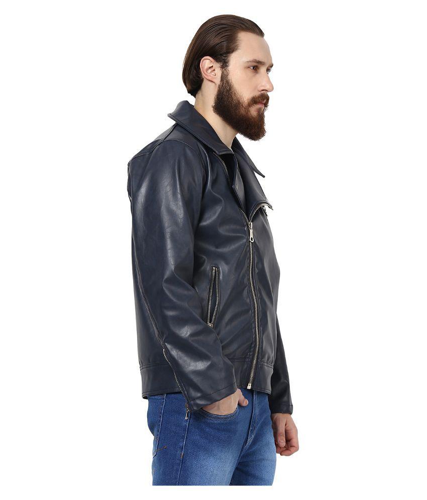 Leather jacket yepme - Yepme Blue Pu Leather Casual Jacket Yepme Blue Pu Leather Casual Jacket