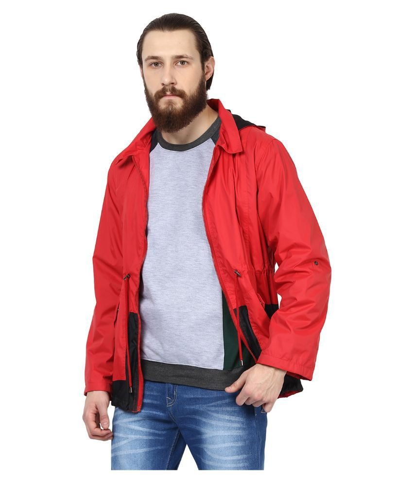 Yepme Red Polyester Casual Jacket