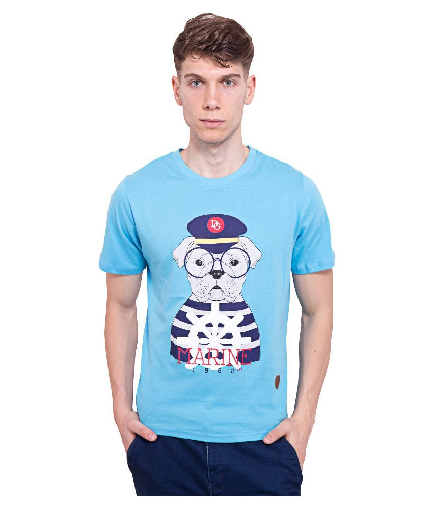Dapple Grey Blue Round T Shirt