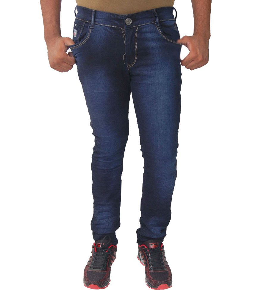 JG Forceman Blue Regular Fit Solid Jeans