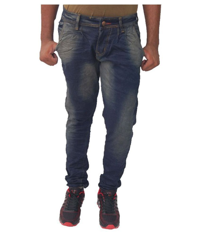 JG Forceman Blue Regular Fit Faded Jeans