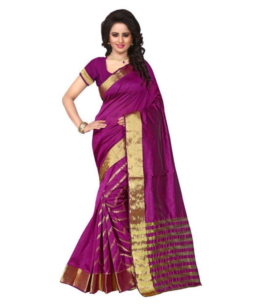 Heena Fashion Pink Silk Saree