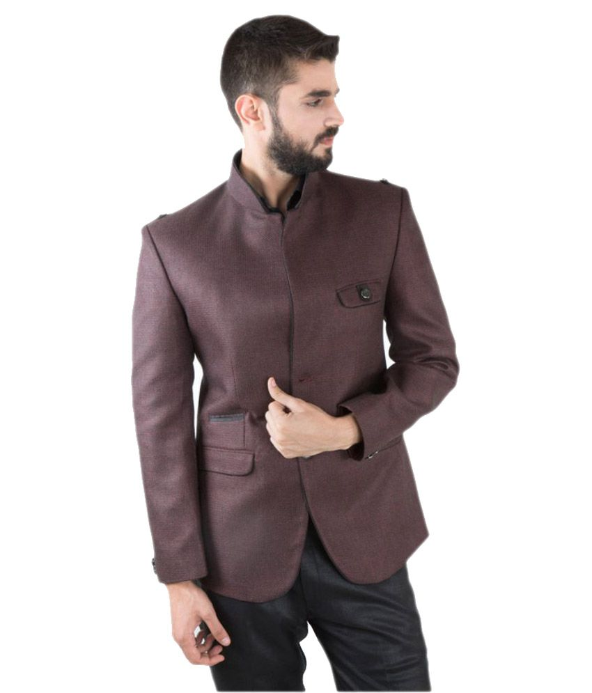 Jahanpanah Brown Party Blazers