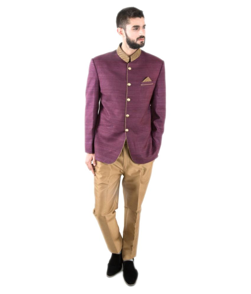 Jahanpanah Purple Party Suits