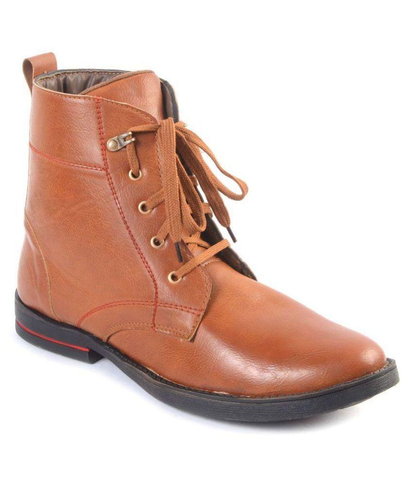 Jainsindh Tan Boots