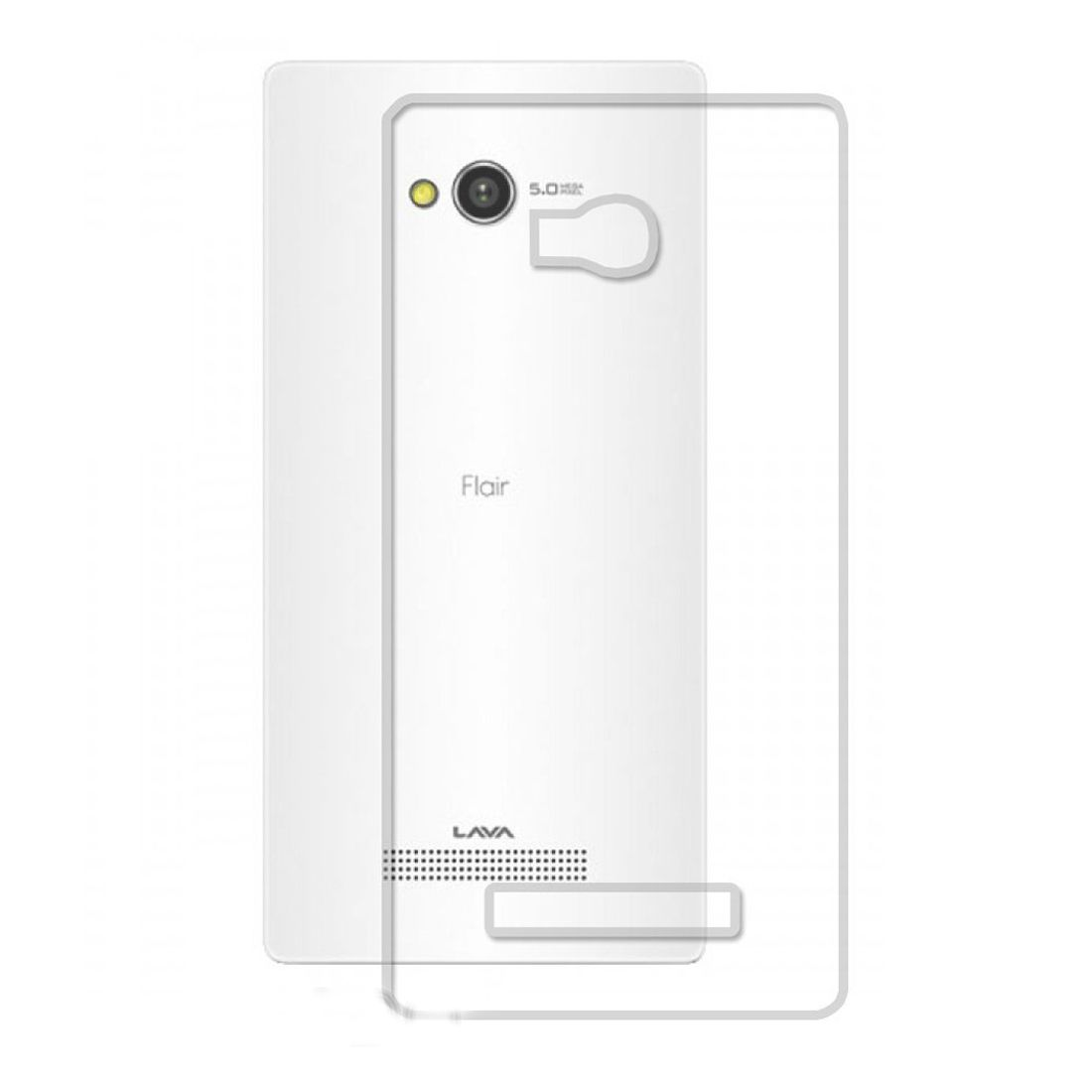 Noise Transparent Clear Silicone Jelly Soft Case Back Cover For Lava Flair Z1 available at SnapDeal for Rs.299