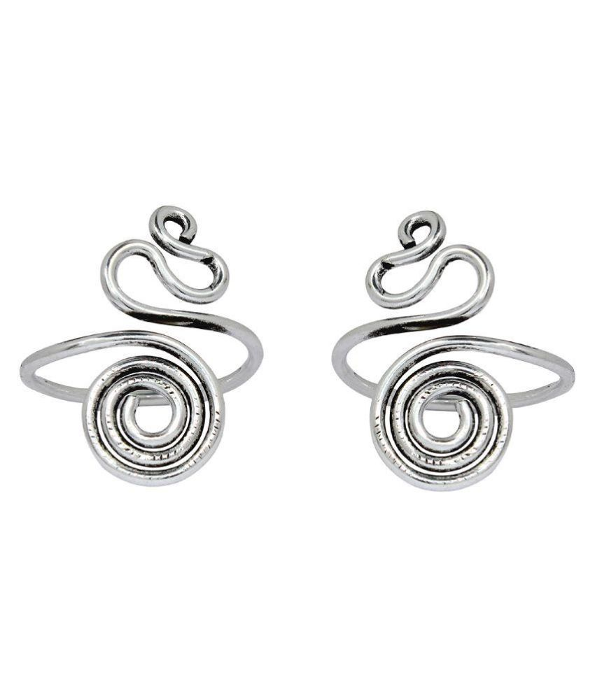 Ranvijay Silver Pair of Toe Rings
